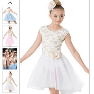 Weissman Lace Tulle High-Low Lyrical Ballet Dress
